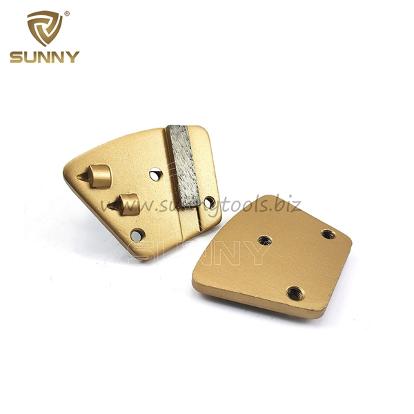 Trapezoid M6 Screw Pcd Diamond Grinding Shoe For Coating